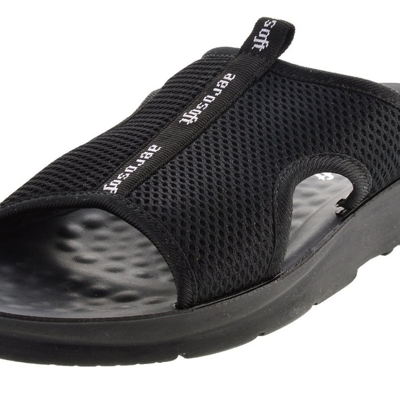 2344fa72911 Aerosoft Black Mesh Sandals